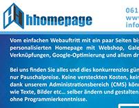 Hhomepage Flyer Design
