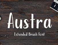 Austra - Extended Brush Font