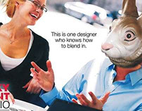 Direct mail intro for Lucky Rabbit Studio