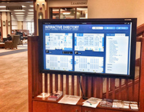DePaul University Library Digital Wayfinding Map