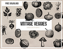 Free - Vintage Vegetable Clipart Collection