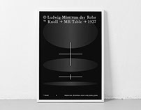 Mies van der Rohe x Lilly Reich | Poster Collection