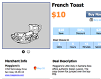 Daily Deals - Webpage Mockup