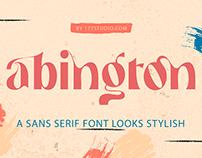 Free Font - Abington