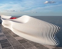 Outdoor parametric bench #2