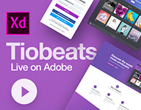 Tibeats Website & Web App on Adobe Live