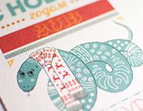 New Year greeting card. 2013