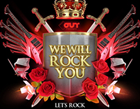 We will rock you - Party logo