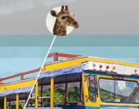 """Chiva-con """"jirafa"""" incluida."""