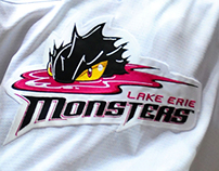 Lake Erie Monsters Pink the Rink Jersey 2011-2012