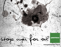"""Stop War For Oil"" / Greenpeace Ad's Poster"