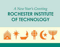 Holiday Card for Rochester Institute of Technology