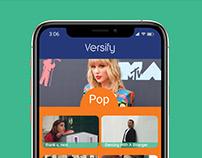 Versify: Music Video Streaming, Brand Book