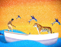 Life of Pi: Title Animation