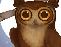 Nursery Critters - Gallant Great Horned Owl