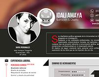CV  y portafolio Idalí