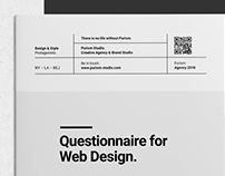Purism Questionnaire and Brief for Web Design