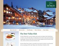 Deer Valley Club website