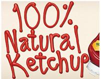 Hunt's Ketchup: 100% Natural banner ad
