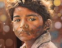 LION / SAROO. Oil Painting.