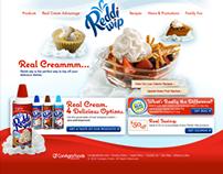 Reddi-wip website concept