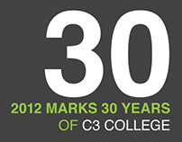 C3 College 30th Anniversary Identity