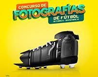 Key Visual concurso de fotografías de fútbol