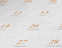 Calendar for insurance company