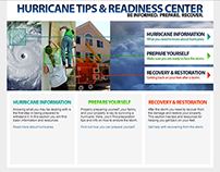 Web Design: DKI Hurricane Tips & Readiness Center