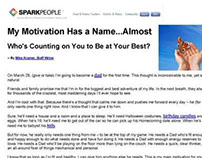 Motivational article for SparkPeople.com