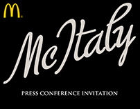 McDonalds | McItaly Press Conference Invitation
