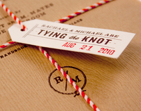 Tying the Knot - RK+MM Wedding Invitations