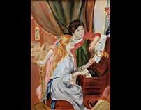 Renoir- Girls at a piano