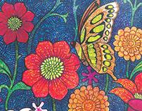 Floral Motif - Marker on paper