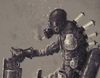 Character concept art 02 // postapocalyptic gunslinger