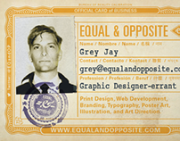 Antique ID Equal & Opposite Business Cards