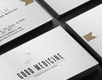 Logo and Stationery design Good Medicine