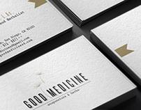 Logo and Stationery design Good Medicine