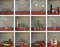 "Modular bench-table ""Trip"""