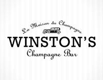 Winston's Champagne Bar - Branding
