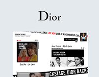 Dior Backstage Virtual Beauty Show Microsite