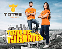 Campanha Terra dos Gigantes - Totem Vestibulares