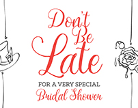 Alice In Wonderland Bridal Shower Invitations
