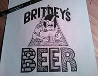 Britney's beer - Typography