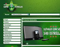 Heineken Súper Estrellas web catalogue