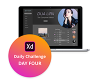 Adobe XD Challenge Day Four - Music Player App