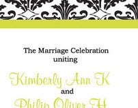 Wedding Program - Kim & Oliver