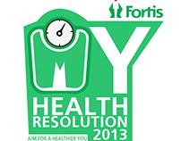 """My Health Resolution"" 2013 Facebook Tab UI (Fortis)"