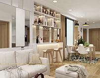 Thiết kế nội thất chung cư Ecogreen City - Chị Dung