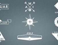 VIERKANTTRETLAGER - calendar